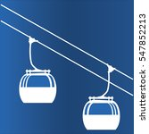ski cable lift icon | Shutterstock .eps vector #547852213