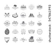 set of 25 premium labels on the ... | Shutterstock .eps vector #547861993