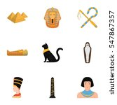 ancient egypt set icons in...
