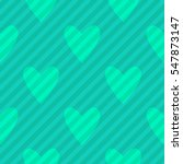 seamless turquoise green hearts ... | Shutterstock .eps vector #547873147