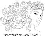 vector hand drawn illustration... | Shutterstock .eps vector #547876243