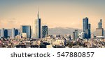 milano  italy   skyline with... | Shutterstock . vector #547880857