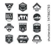 set of monochrome logos... | Shutterstock .eps vector #547882783