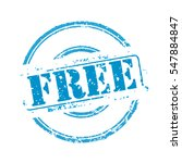 free blue rubber stamp vector... | Shutterstock .eps vector #547884847