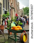 Small photo of 14 july 2012. Traditional cheese shop on a street in Amsterdam, Netherlands.