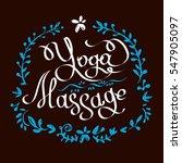 vector illustration yoga... | Shutterstock .eps vector #547905097
