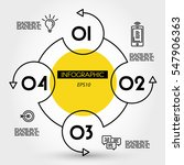 yellow circle infpgraphic... | Shutterstock .eps vector #547906363