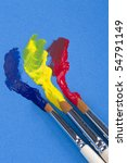brushies paint different colors | Shutterstock . vector #54791149