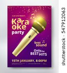 karaoke party poster template... | Shutterstock .eps vector #547912063