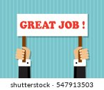 hands holding a sign with a... | Shutterstock . vector #547913503