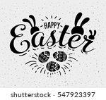 happy easter hand sketched... | Shutterstock .eps vector #547923397