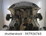 underside view of a car in a...   Shutterstock . vector #547926763