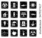 ecology icons set icons in... | Shutterstock . vector #547927417