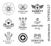 donations and charity logo...