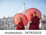 Little Monks At Mingun...