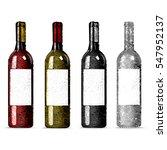 set wine bottles. red and white ... | Shutterstock .eps vector #547952137