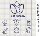 eco friendly fabric feature... | Shutterstock .eps vector #547952263