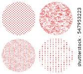 beaten swirl red color set... | Shutterstock .eps vector #547953223