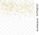 golden confetti falling on... | Shutterstock .eps vector #547968157