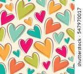 funny colorful hearts. seamless ... | Shutterstock .eps vector #547970017