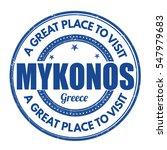 mykonos grunge rubber stamp on... | Shutterstock .eps vector #547979683