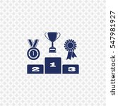 icon of champion podium on... | Shutterstock .eps vector #547981927