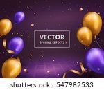 holiday decoration frame ... | Shutterstock .eps vector #547982533