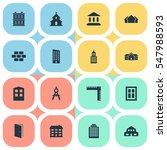 set of 16 simple construction... | Shutterstock . vector #547988593