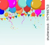 Colorful Balloon Background...