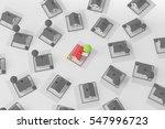 real estate  3d render house... | Shutterstock . vector #547996723