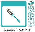 screwdriver calendar page icon... | Shutterstock .eps vector #547999213