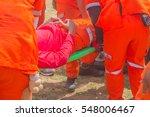 a team of emergency medical... | Shutterstock . vector #548006467
