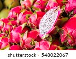 Dragon Fruit In The Market In...