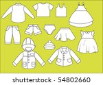 a set of different types of... | Shutterstock .eps vector #54802660