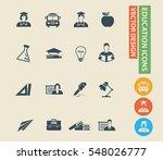 education icon set. vector | Shutterstock .eps vector #548026777