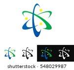 abstract atom logo | Shutterstock .eps vector #548029987