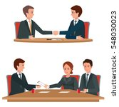 successful business... | Shutterstock .eps vector #548030023