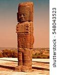 toltec warriors columns on...   Shutterstock . vector #548043523