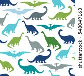 seamless pattern with cartoon... | Shutterstock .eps vector #548049163