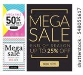 modern sale banner set ... | Shutterstock .eps vector #548051617