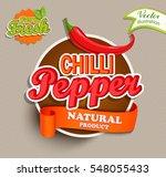 chilli pepper logo lettering... | Shutterstock .eps vector #548055433