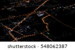 city view at night from plane ... | Shutterstock . vector #548062387