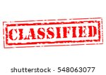 classified red stamp text on... | Shutterstock . vector #548063077