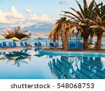 nice view on the swimming pool... | Shutterstock . vector #548068753