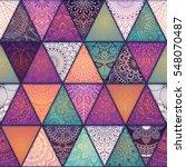 seamless mandalas pattern.... | Shutterstock .eps vector #548070487