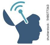 open brain radio interface... | Shutterstock .eps vector #548077363