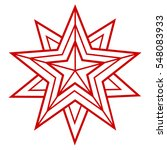 star  vector geometric... | Shutterstock .eps vector #548083933