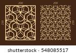 laser cutting set. woodcut...   Shutterstock .eps vector #548085517
