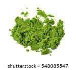 Small photo of Wolffia globosa or Fresh water Alga, Water Meal, Swamp Algae on white background.