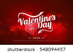 valentines day sale background... | Shutterstock .eps vector #548094457